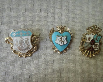 Coro Coat of Arms pins lot of three