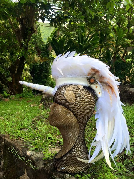 Alexxia  - Customizable Unicorn Feather Mohawk / Headdress