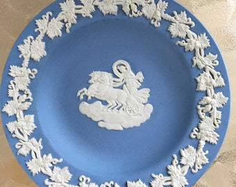 Small Blue Wedgwood Collectible Plate
