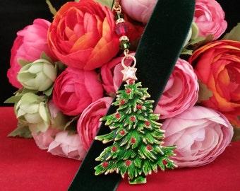 Oh Christmas Tree Velvet Ribbon Bookmark