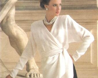Givenchy wrap dress & skirt pattern -- Vogue Paris Original 1636