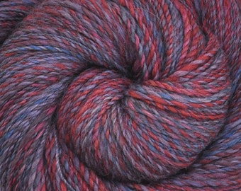 Handspun yarn - Hand Painted Alpaca / Merino wool, Worsted weight - 435 yards- Prep School