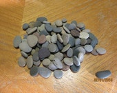 Lot of 100 Flat Beach Stones Sorted and Sized Lake Michigan Mosaic Craft Supplies