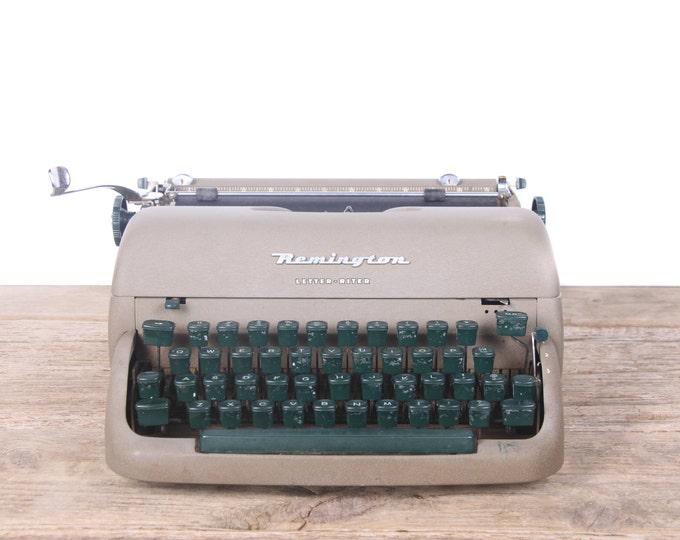 Vintage Remington Letter Riter Typewriter / Working Manual Typewriter / Beige Antique Typewriter / Vintage Typewriter Decor Prop Display