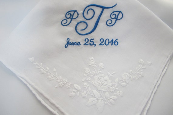 Wedding Handkerchief embroidered for the Bride to carry down the aisle