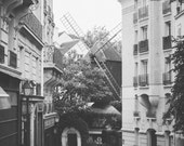 The Mill - Paris - Download Monochrome Printable Fine Art Photograph, digital instant download, black and white, photography print