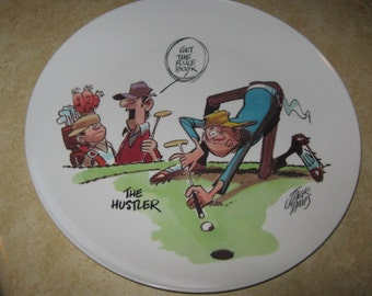 Jack Davis Cartoonist The Hustler Golf Boontonware Collectors Plate