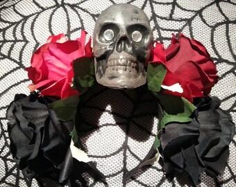 Day of the Dead Flower Headband / Dia De Los Muertos Headpiece / Flower Headpiece