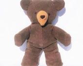 Organic Teddy Bear, Hand-dyed GOTS Certified Organic Cotton