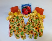 Bright Sunflower Garden Gloves, Women's Gardening Gloves