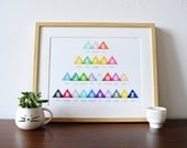 Nursery Print - Color Alphabet - a modern design print 8.5x11 or 13x19 // A-Z of Colors poster // nursery wall art // nursery decor