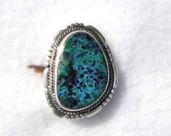 AZURITE  MALICHITE RING     #751