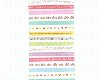 Planner Stickers: Bicycle Borders