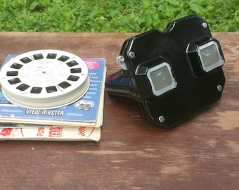 vintage sawyer view - master with 29 reels and reel lists