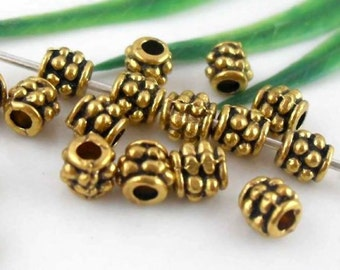 Wholesale 100pcs Gold Tone 4mm Metal Spacer Beads