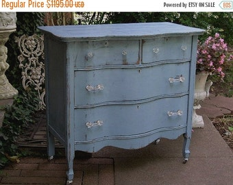 15% OFF Fabulous CUSTOM ANTIQUE Dresser Made to Order Your Own Lowboy Chest Bureau Shabby Chic Painted Distressed Restored Antique Bedroom F