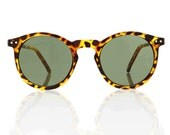OMalley Round Tortoise Shades - Green X American Deadstock Eyewear