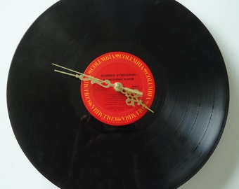 Barbara Streisand Christmas Album Vinyl Record Clock