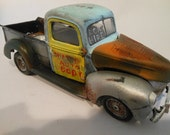 Made in USA, Vintage Pickup, Truck, Handmade ,Scale Model Truck