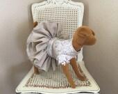 Coup de Foudre Dog Dress, Linen