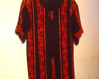 Vintage 1950s Cross Stitch Needlework Art  Arabic Embroidery  short open  Jacket  S / M