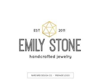 Premade Logo Design | Business Branding | Crystal Logo | Jewelry Logo | Jewelry Shop