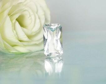 Emerald Cut Gemstone, Emerald Cut Gem, Emerald Cut, Herkimer Diamond, Conflict Free Gemstone, Diamond Alternative, Natural Gem