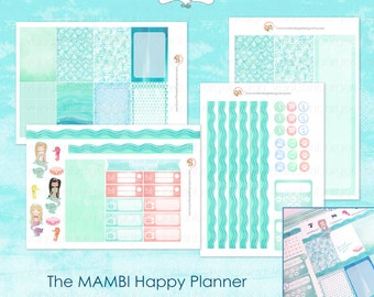 MAMBI The Happy Planner Stickers - Mermaid Weekly Kit