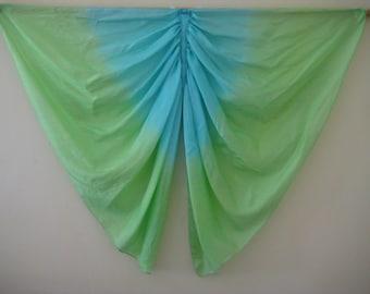 Butterfly Wings Costume, Green & Blue Pure Silk Wings, Dragon Wings