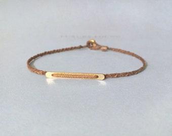 BIG BER. dainty minimal gold filled bar layering bracelet