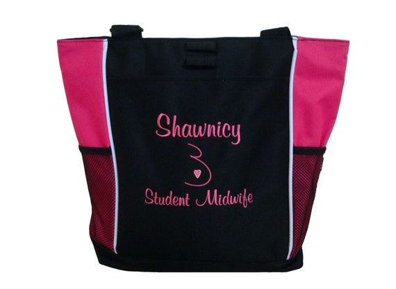Tote Bag Personalized Nurse Student Midwife Birthing Center Mom Home Nurse Midwifery Birth Doula Services