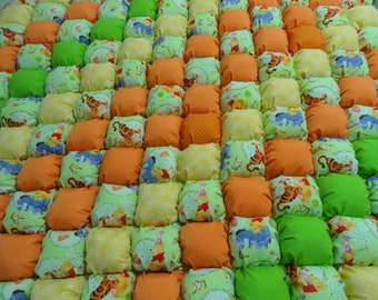 Winne the Poo Bubble Quilt 42x42 by Karrirose