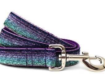 "Glitter Dog Leash 1"" Purple Dog Leash"