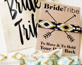 Bride Tribe Card and Hair Tie Gift bag Bachelorette Party Wedding Day Survival kit Gift For Bride Bridesmaid Maid of Honor ponytail holders