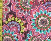 Swimsuit Fabric- Bright Flowers(1 yard)