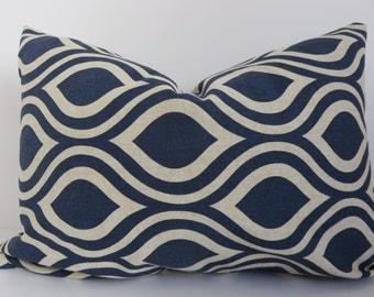 Navy Blue Pillow- Navy Pillow - Pillow Cover - Blue Beige Pillow - Pillow Cover - Beige Pillow
