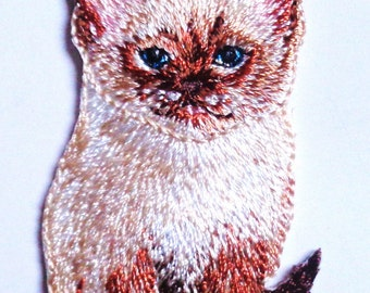 Kitten iron on applique
