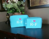 Small Waffle Bag. . .Wedding Gifts for Bride, Bridesmaids, Moms. Great for Makeup, Travel or just to help you organize - Monogrammed FREE