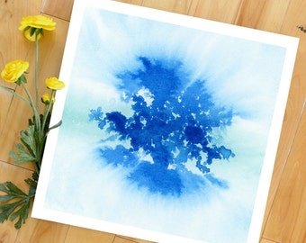Watercolor Print, Abstract Art Print, Tree of Life, Landscape Painting, Modern Art, Expressionist, Minimalist, Garden Floral, Bohemian