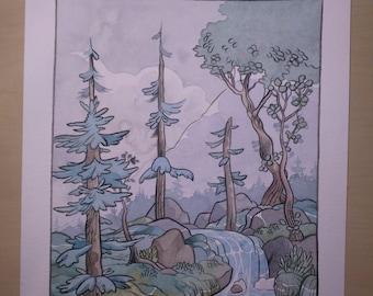 Halcyon Original Painting