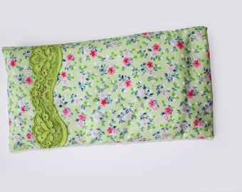 Lavender Eye Pillow, Meditation, Relaxation, Cotton Eye Pillow, Washable, Microwavable, Eco Friendly, Heating Eye pad
