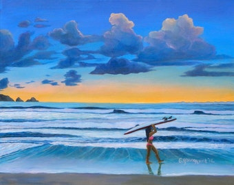 """Sunset Session 24""""x30"""" Giclee on Canvas Print"""