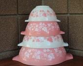 Pyrex Pink Gooseberry Cinderella Bowl Set