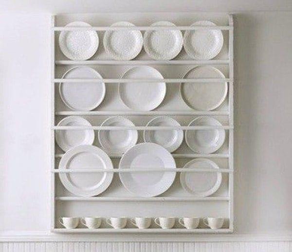 Plate Rack Plate Holder Wall Mounted Plate Shelf