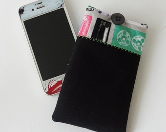 Black Cassette Tape Cover For iPhone