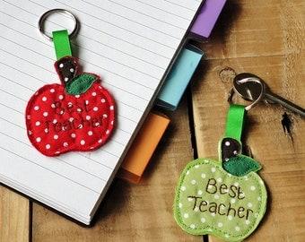 Red Apple Teachers Gift Key Ring