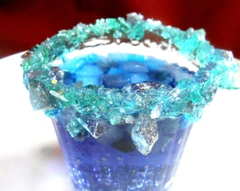 12 FROZEN BIRTHDAY PARTY, Rock Sugar, Candy Rimmed,Kids Party Glasses, Candied Cups, Sweetened Drinks, Elsa Party CupsFavor Cups,Pat.Pending