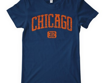Women's Chicago 312 T-shirt - S M L XL 2x - Ladies' Chicago Tee, Windy City - 4 Colors