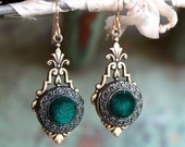 Antique Button Earrings, ...