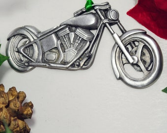Motorcycle Ornament  Made in America from Fine Pewter